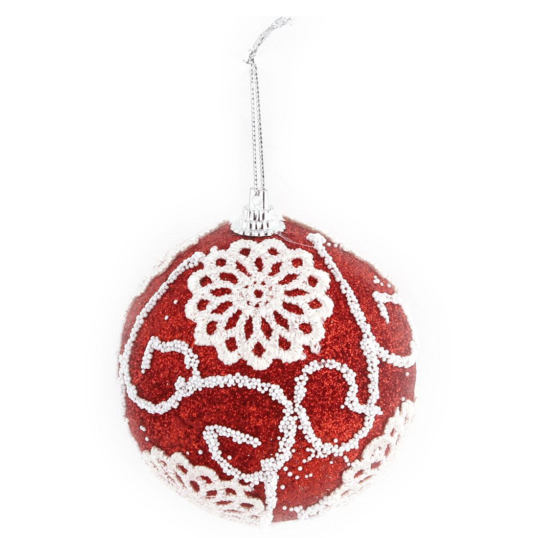Unique Bargains Christmas Party Appliques Decor Artificial Collectible Festive Hanging Ball
