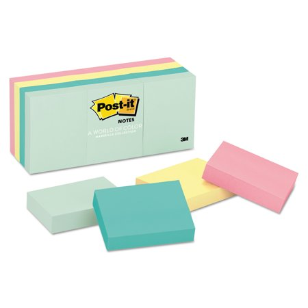 Post It Original Pads In Marseille Colors  1 1 2 X 2  100 Pad  12 Pads Pack