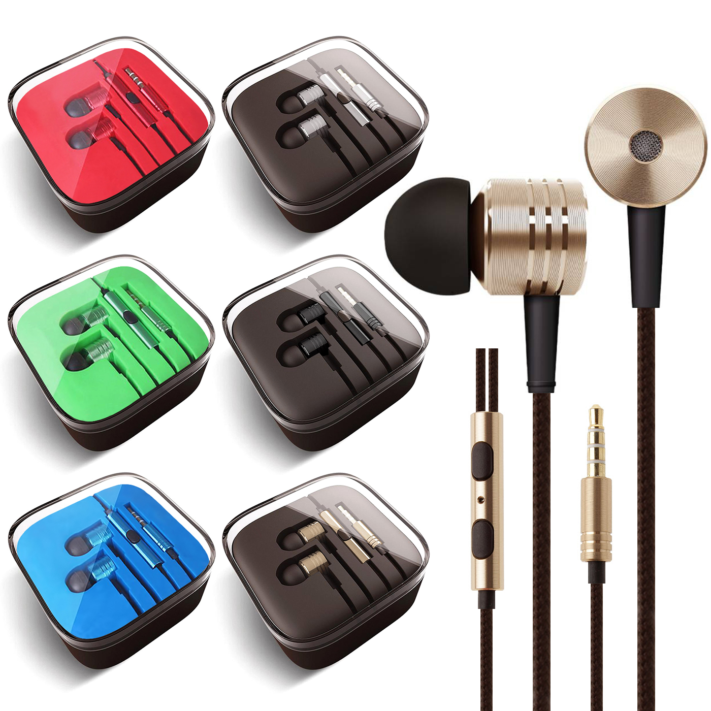 3.5mm Headphones In-Ear Earbuds Afflux Universal Stereo Headset Earphones For Cellphone Tablet iPhone 6 6S 5S SE 6/6S Plus Earbuds iPod iPad Samsung Galaxy S9 S8 S7 S6 Note 5 Note 8 9 LG Stylo