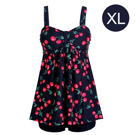 Skirt Type Split Conservative Swimsuit Belly Wrapped Flat Angle Floral Backless Swimwear with Chest