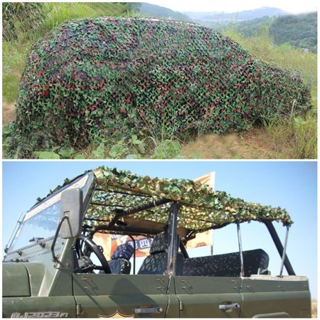 Woodland Camo Netting Camouflage for Netting Camping Sunshade Hunting 3 x 5m
