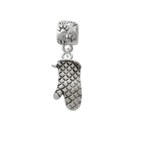 Oven Mitt - Paw Print Charm Bead
