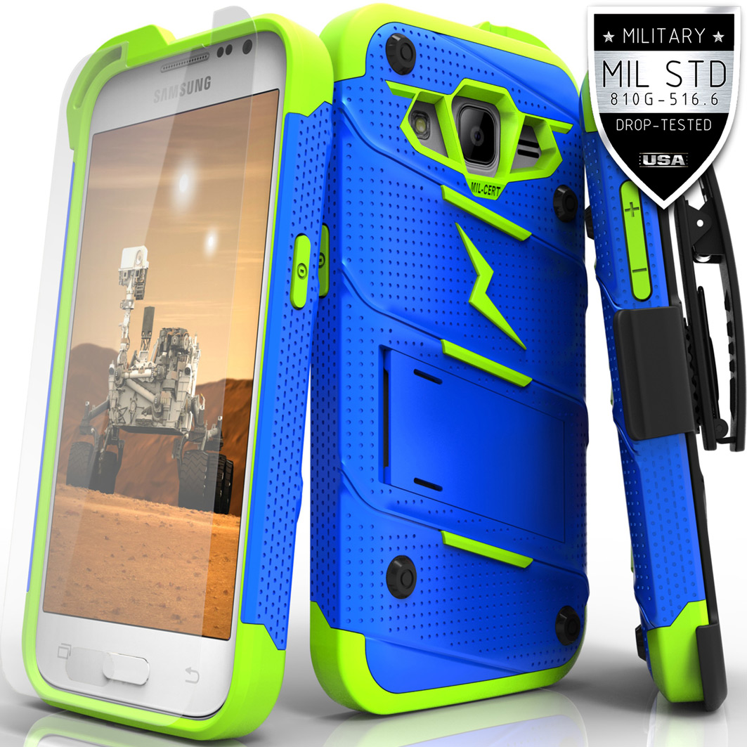 reputable site 4b83a 0b28f Samsung Galaxy Core Prime Case, Zizo [Bolt Series] w/ FREE [Galaxy Core  Prime Screen Protector] Kickstand [Military Grade Drop Tested] Holster -  S820L