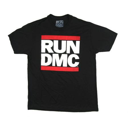 Run DMC Classic Logo Active Black T Shirt Work Out Poly (Run Dmc Outfit)