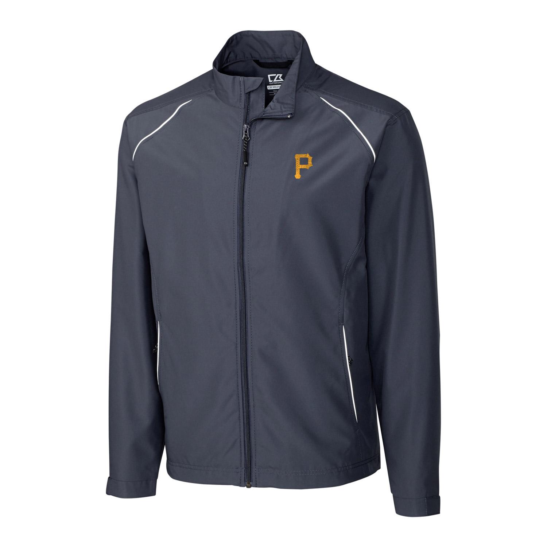 Pittsburgh Pirates Cutter & Buck Big & Tall WeatherTec Beacon Full Zip Jacket - Charcoal