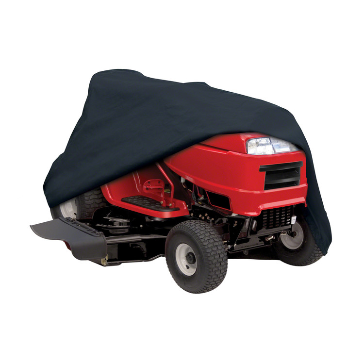 "Classic Accessories Black Riding Lawn Mower Tractor Storage Cover, Fits Lawn Tractors with Decks 54""W"