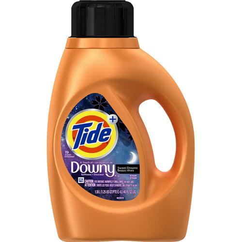 Tide Plus Downy Sweet Dreams Liquid Laundry Detergent, 19 Loads 40 oz