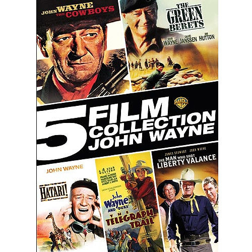 5 Film Collection: John Wayne - The Cowboys / The Green Berets / Hatari! / The Telegraph Trail / The Man Who Shot Liberty Valance(DVD + Digital With UltraViolet)