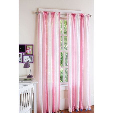 Your Zone Crushed Ombre Girls Bedroom Curtains 84 Length