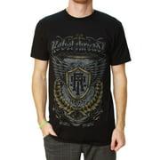 Rebel Threadz Men's Crest Crew Neck Short Sleeve T-Shirt