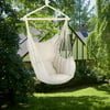 Large Hammock Chair Swing, Relax Hanging Rope Swing Chair with Two Seat Cushions, Hanging Hardware Kit & Carry Bag, Cotton Hammock Chair Swing Seat for Yard Bedroom Patio Porch Indoor Outdoor, B006