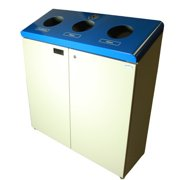Frost Products 3 Stream 53 Gallon Multi Compartment Recycling Bin