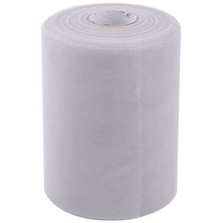 Party Gift DIY Dress Craft Decor Tulle Spool Roll Light Gray 6 Inch x 100 Yards (Gray Tulle)