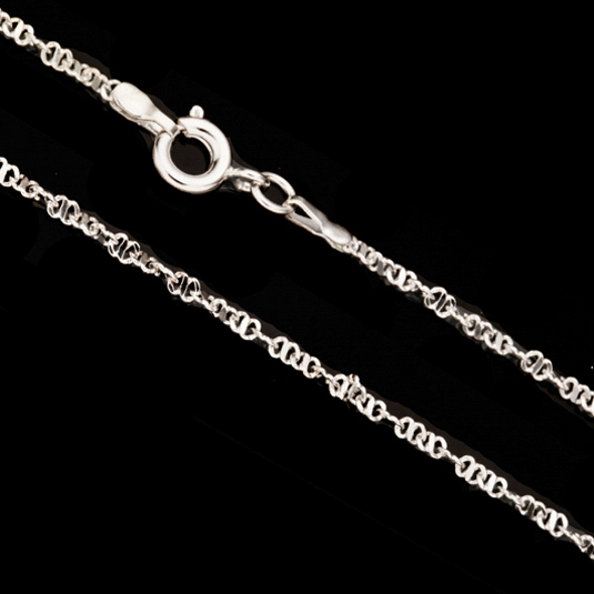 Silver Anchor Chain Necklace With Springring Clasp 18Inch Silver Plated Brass 2mm Chain Width Sold per pkg of 1pcs
