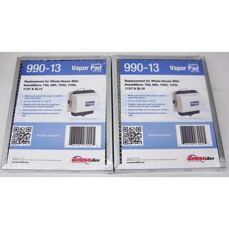 OEM GeneralAire 990-13 Evaporator Pad Media Filters 2 PAK for 709 990 1040 1042 1137 SL16