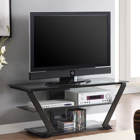 Contemporary Modern Black TV Console for TVs up to 54″