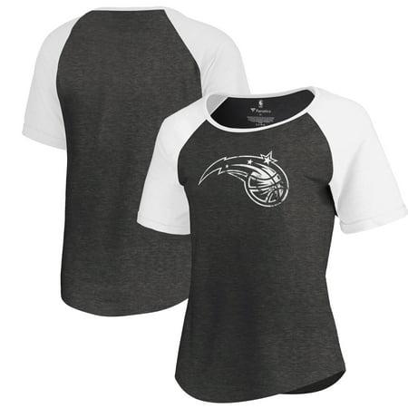 Orlando Magic Fanatics Branded Women's Marble Logo Raglan T-Shirt - Black