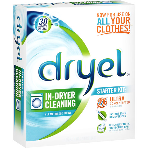 Dryel In-Dryer Cleaning Clean Breeze Scent Starter Kit, 1kt