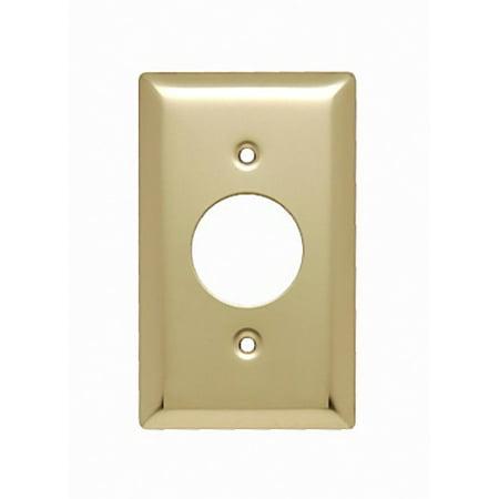 Pass and Seymour SB7-PB Polished Brass Single Gang Single Receptacle Wall Plate