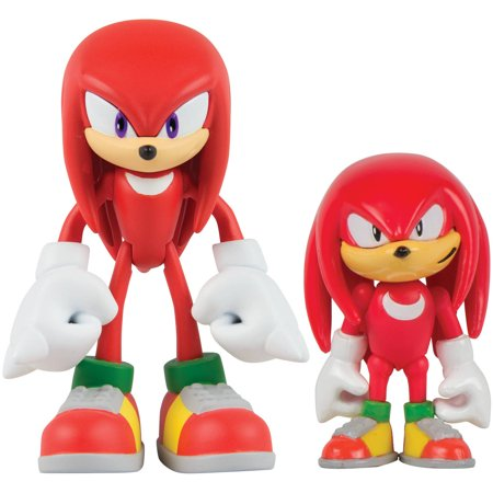 Sonic Collector Series 2 Figure Pack With Comic  Classic Knuckles And Modern Knuckles