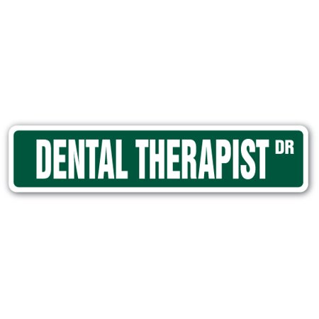 Dental Therapist Street [3 Pack] of Vinyl Decal Stickers | Indoor/Outdoor | Funny decoration for Laptop, Car, Garage , Bedroom, Offices | SignMission
