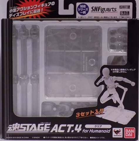 Tamashii Stage Act 4 for Humanoid Clear Color Stand Plastic New In Box