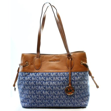 559e7e639801 Michael Kors - Michael Kors NEW Blue Denim Canvas Drawstring Marina Tote  Bag Purse $248 #047 - Walmart.com