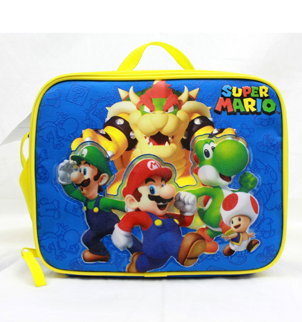 Lunch Bag - Nintendo - Super Mario Group Blue New SD28263