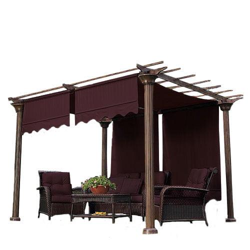 Garden Winds Universal Designer Replacement Pergola Shade Canopy II - Nutmeg