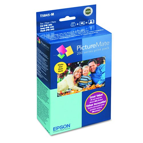 Epson T5845-M PictureMate Print Pack Includes Inkjet Cart...