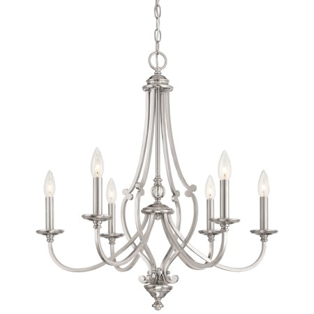 Minka Lavery Savannah Row 6 Light Chandelier - Brushed Nickel