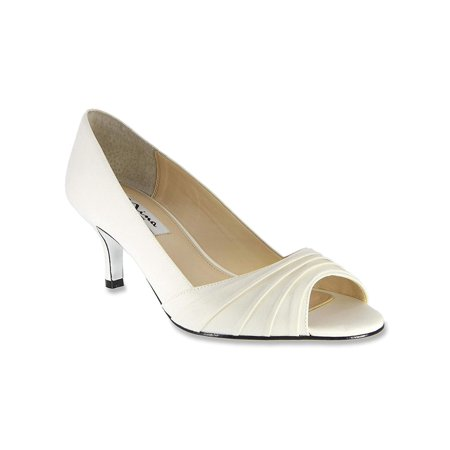 Nina Womens Carolyn Leather Peep Toe Classic Pumps
