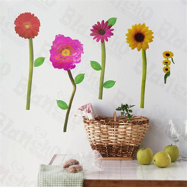 Loving Flowers - Wall Decals Stickers Appliques Home Decor