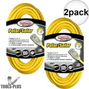 Coleman Cable 01689 100' 12/3 SJEOW Polar/Solar Extension Cords 2-Pack