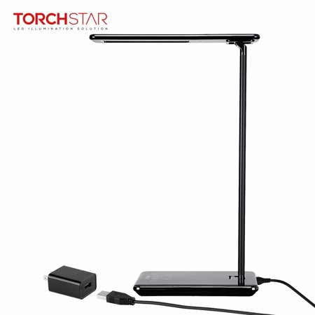 TORCHSTAR Dimmable LED Desk Lamp, 4 Lighting Modes (Reading/Studying/Relaxation/Bedtime), Fully Adjustable Brightness, Touch Sensitive Control, USB Charging Port, 1 & 2 Hour Auto Timer, Piano (Desk Lamp 2 Tube)