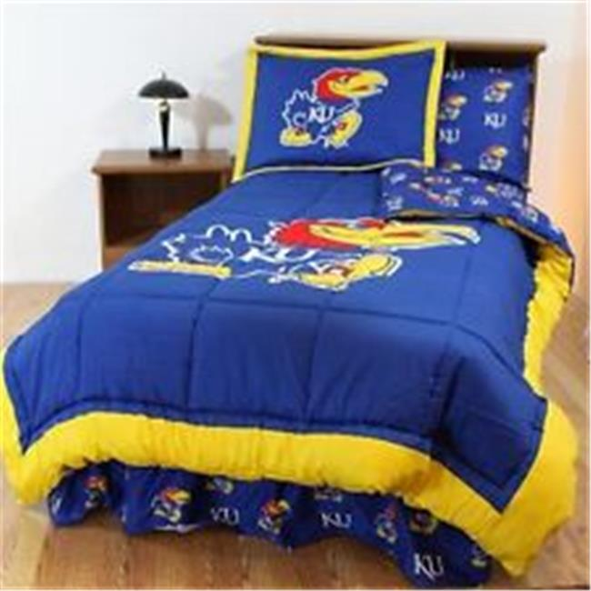 Comfy Feet KANBBFL Kansas Bed in a Bag Full - With Team Colored Sheets