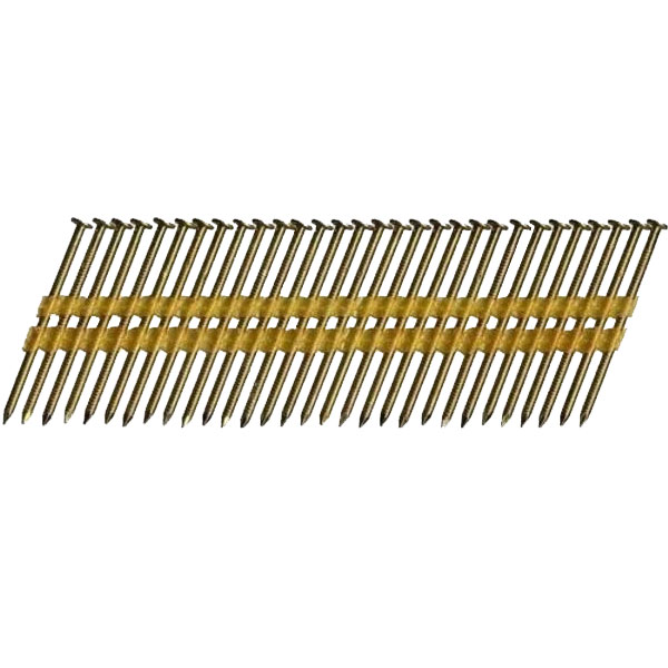 "Hitachi 10111 3-1/4"" 4,000ct 12D Smooth Plastic Strip Bright Framing Nails"