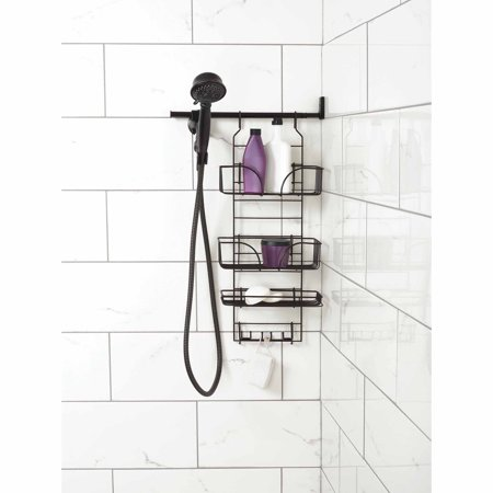 Zenna Home Make-A-Space Side Mount Shower Caddy, Bronze