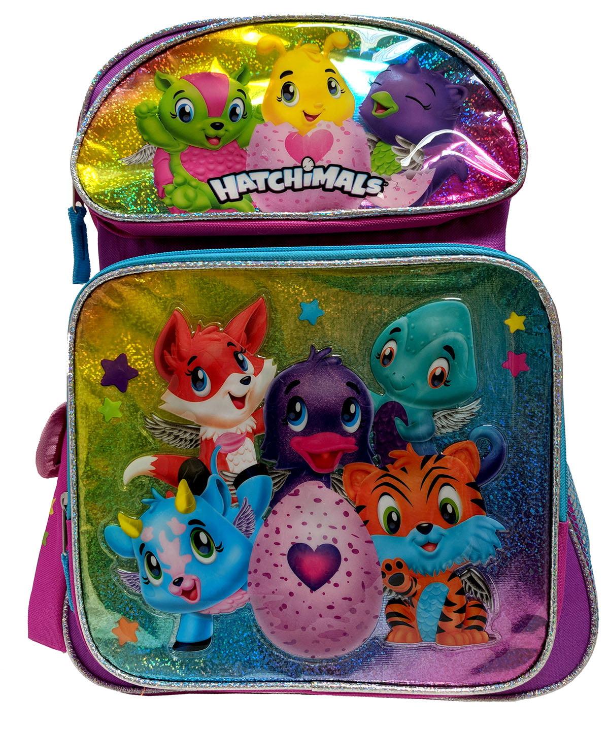 """Shine Hatchimals Backpack 16/"""" Hatching Egg Backpack Girl Hatching Egg Surprise"""