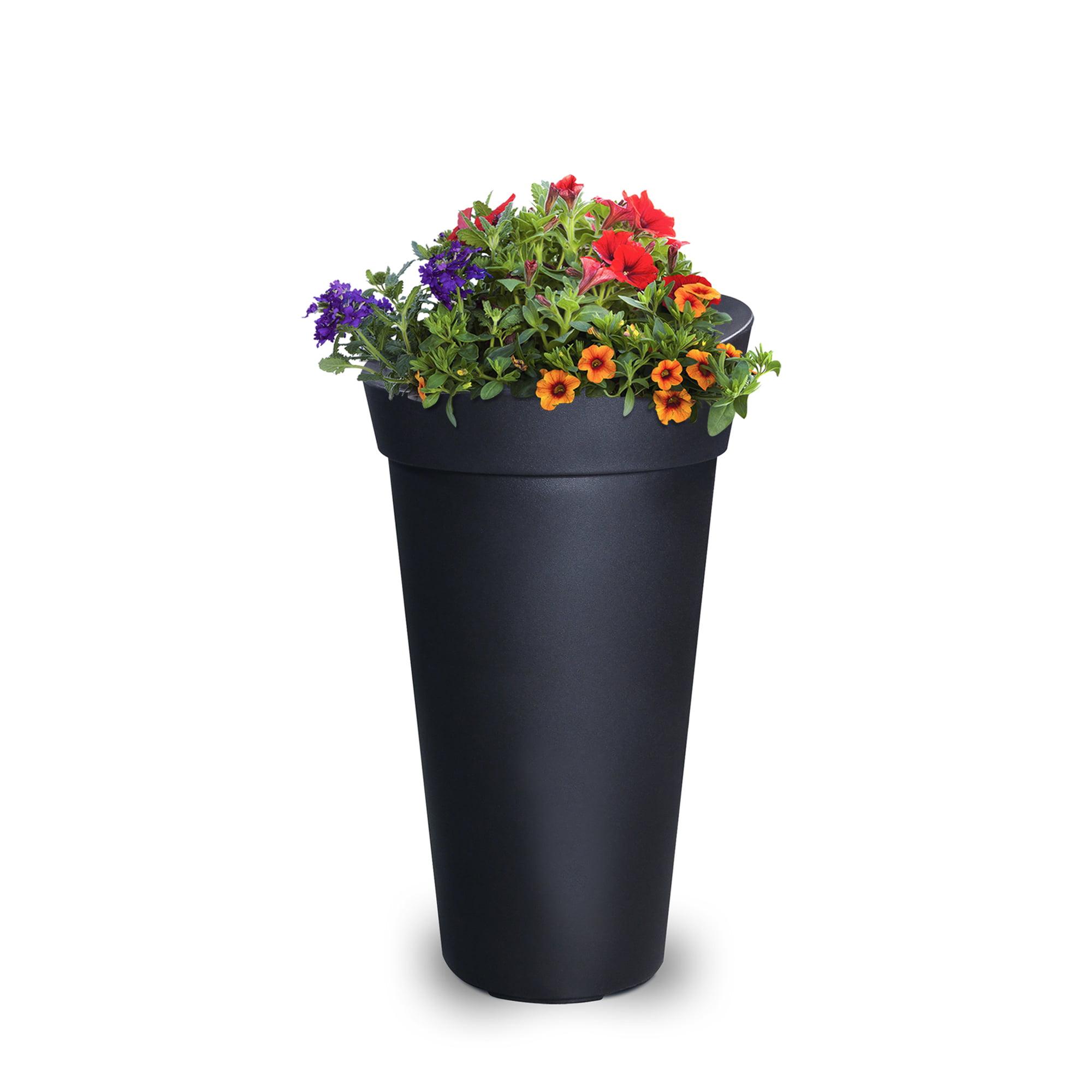 Creston Tall Planter Black by Mayne Inc.