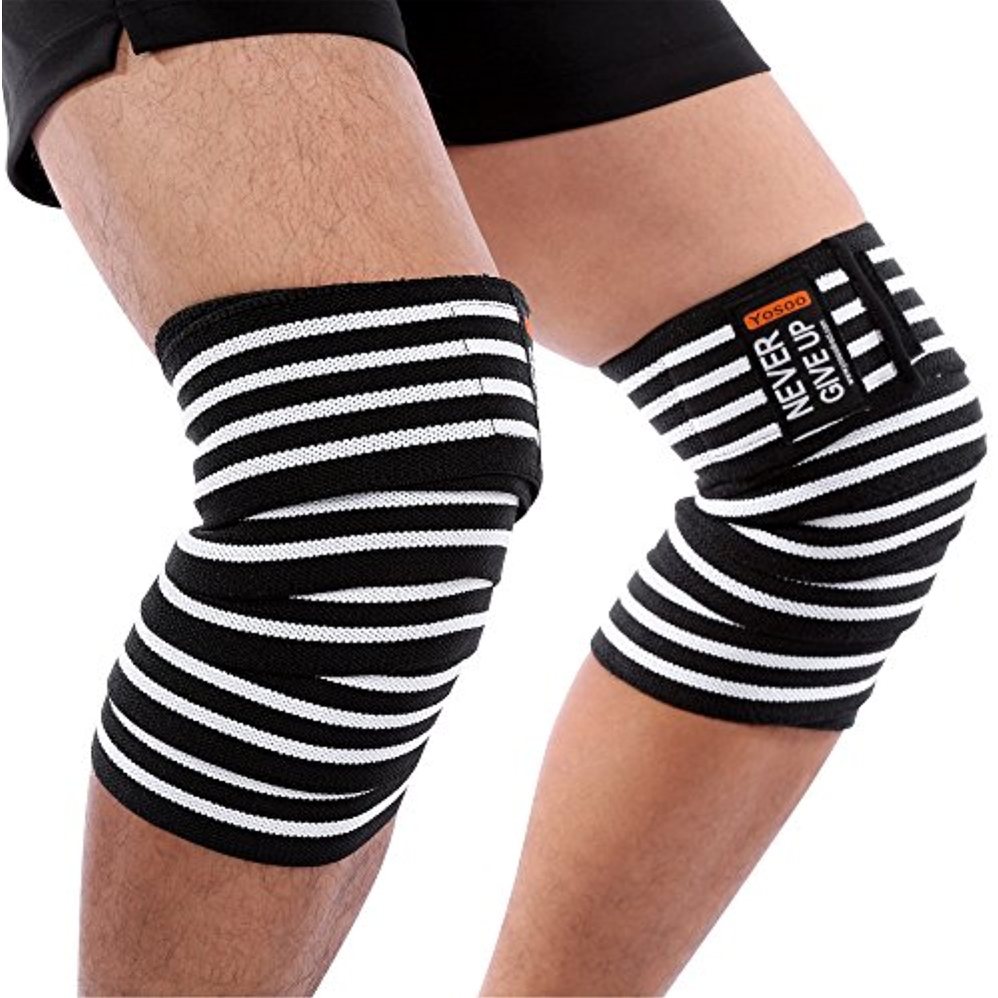 Yosoo Adjustable Sports Knee Wraps Calf Compression Patella knee Sleeve Thigh Leg Brace Elastic Support Straps