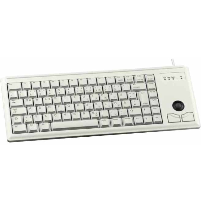 Cherry Ultraslim G84-4420 Keyboard - Cable - PS/2 Interface - Light Gray