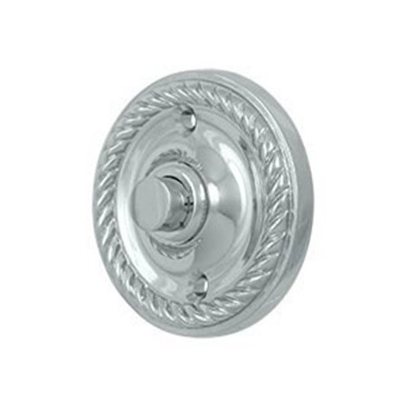 Deltana BBRR213U26 Round Rope Doorbell Button Polished (Deltana Button)