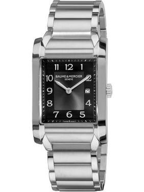 Baume & Mercier Baume-et-Mercier Hampton 10021 27mm Silver Steel Bracelet & Case Anti-Reflective Sapphire Men's Watch