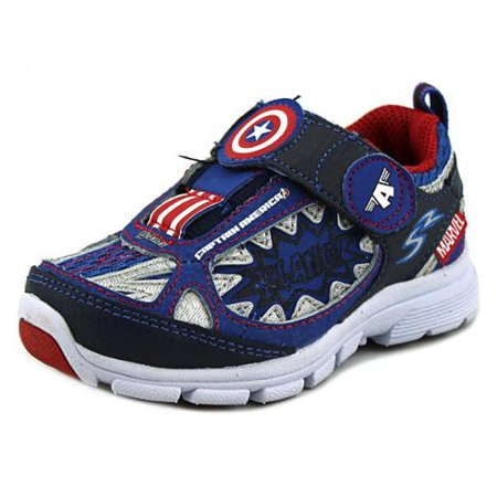 Stride Rite Toddlers Avengers Captain America Light-up Athletic Shoe - Captain America Toddler Shoes