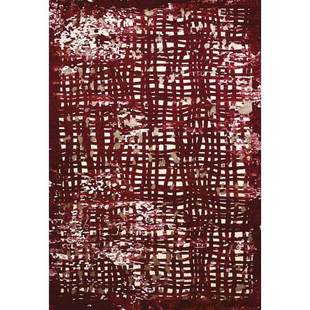 Contemporary Indoor Spotlight - United Weavers Christopher Knight's Mirage Spotlight Garnet Mat Rug 2'7'' X 3'11''