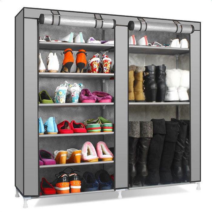 9 Tiers Shoe Rack with Dustproof Cover Closet Shoe Storage Organizador de Zapato