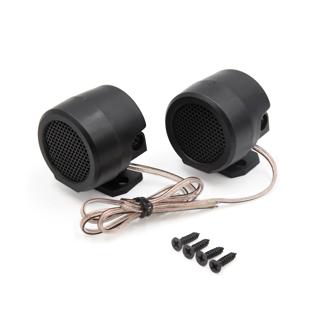Pair 500W 105dB Auto Car Audio System Loud Speaker Stereo Dome Tweeter Black