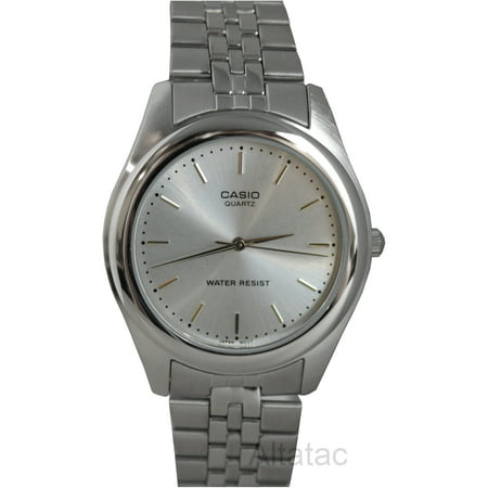 Casio - MTP-1129A-7A Men s Silver Stainless Steel Quartz Analog Watch -  Walmart.com 4ffc6fc976