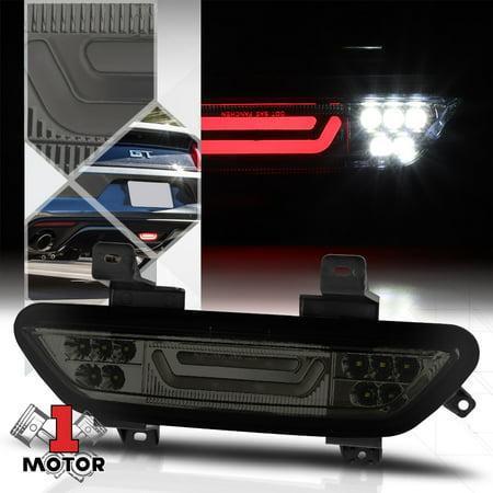 Chrome/Smoke [3D LED BAR] Rear Third 3rd Brake+Reverse Light for 15-18  Mustang 16 17